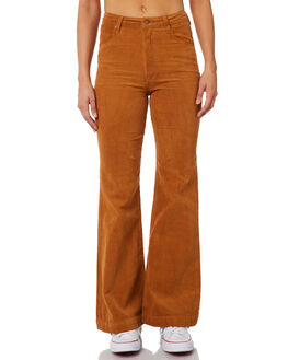 TAN CORD WOMENS CLOTHING ROLLAS JEANS - 123361868