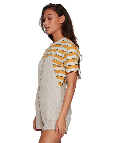 OATMEAL WOMENS CLOTHING RVCA PLAYSUITS + OVERALLS - RV-R207761-O10