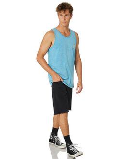 WRASSE BLUE MENS CLOTHING RUSTY SINGLETS - TSM0468WRB