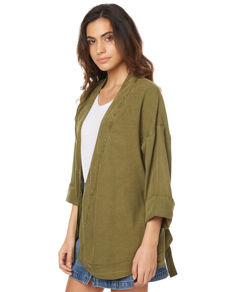 KHAKI WOMENS CLOTHING THE HIDDEN WAY FASHION TOPS - H8174381KHAK