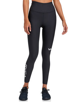BLACK WOMENS CLOTHING RVCA ACTIVEWEAR - RV-R492872-BLK