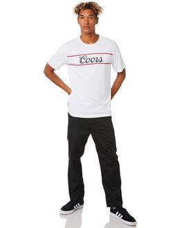 WHITE MENS CLOTHING BRIXTON TEES - 16199WHT