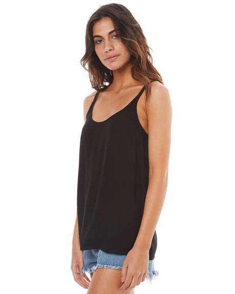 BLACK WOMENS CLOTHING ELWOOD FASHION TOPS - W74303BLK