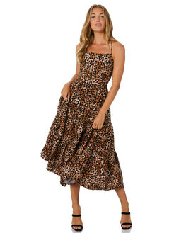 LEOPARD WOMENS CLOTHING TIGERLILY DRESSES - T305445LEO