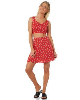 RAD RED WOMENS CLOTHING VOLCOM FASHION TOPS - B0531810RAD