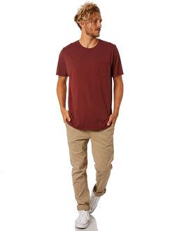 DARK RED MENS CLOTHING KATIN TEES - KNBAS00DRED