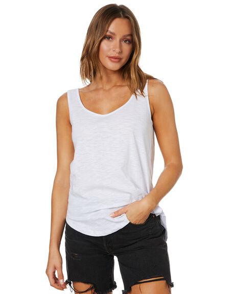 WHITE WOMENS CLOTHING BETTY BASICS SINGLETS - BB214HS20WHT
