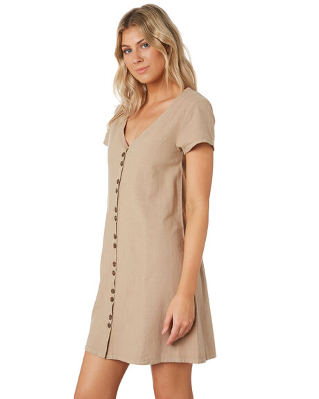 TAUPE OUTLET WOMENS SWELL DRESSES - S8201441TAUPE
