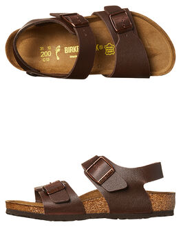 PULL UP BROWN KIDS BOYS BIRKENSTOCK THONGS - 1000361BRN