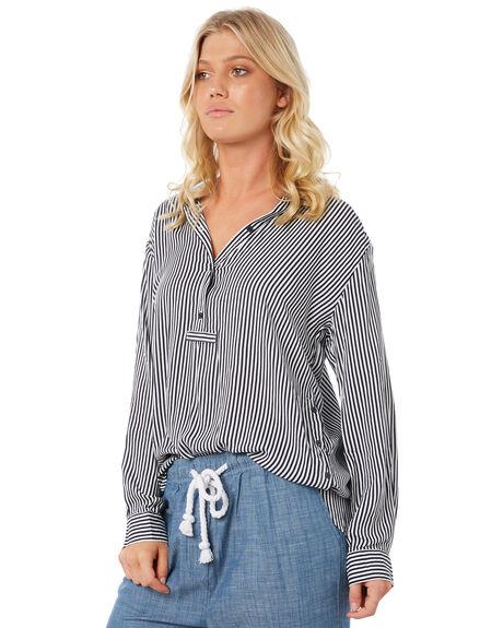 NAVY STRIPE WOMENS CLOTHING ELWOOD FASHION TOPS - W83308-JF6