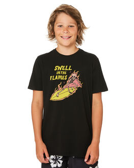 BLACK KIDS BOYS SWELL TOPS - S3182002BLACK