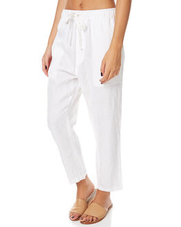 WHITE WOMENS CLOTHING ASSEMBLY PANTS - AS-SW1616WHT