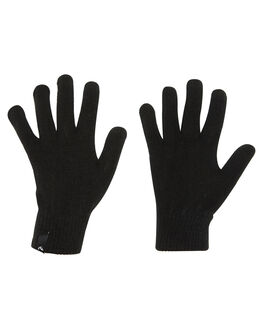 BLACK WOMENS ACCESSORIES RUSTY SCARVES + GLOVES - MAL0407BLK