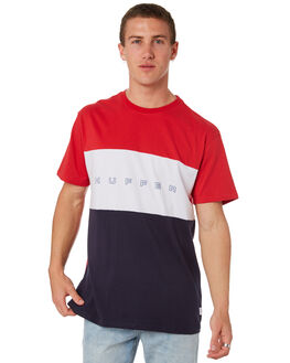 RED NAVY MENS CLOTHING HUFFER TEES - MTE84S23.322RDNVY