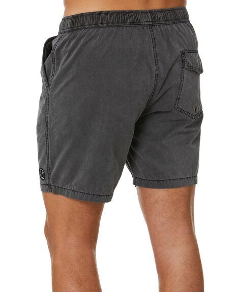 PIGMENT BLACK MENS CLOTHING STAY BOARDSHORTS - SBO-20101PBK