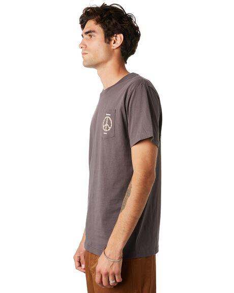 CHARCOAL MENS CLOTHING RHYTHM TEES - JAN20M-PT07-CHA