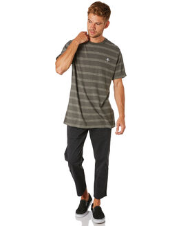 CEMENT STRIPE MENS CLOTHING THRILLS TEES - TS8-130BZCMSTR