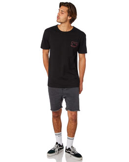 BLACK MENS CLOTHING RUSTY TEES - TTM2257BLK