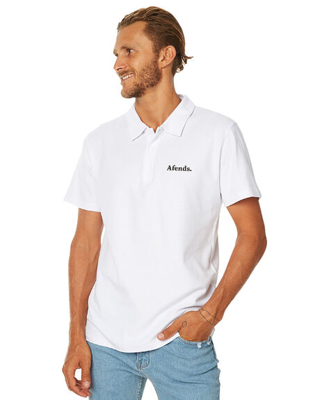 WHITE MENS CLOTHING AFENDS SHIRTS - 04-02-120WHT