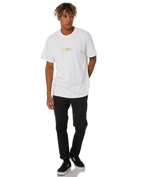 WHITE MENS CLOTHING HUF TEES - TS01463WHITE