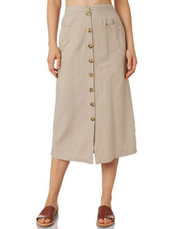 WASHED TAN WOMENS CLOTHING THE HIDDEN WAY SKIRTS - H8183471WSTAN
