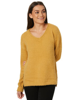 MUSTARD WOMENS CLOTHING ALL ABOUT EVE KNITS + CARDIGANS - 6414007MUST