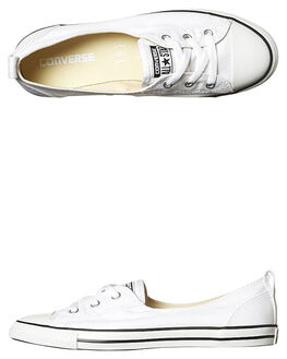 WHITE WOMENS FOOTWEAR CONVERSE SNEAKERS - 547167WHI. CONVERSE 1 Chuck  Taylor All Star Ballet Lace Shoe ab449626b