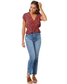 ASTA BLUE WOMENS CLOTHING ROLLAS JEANS - 124733560