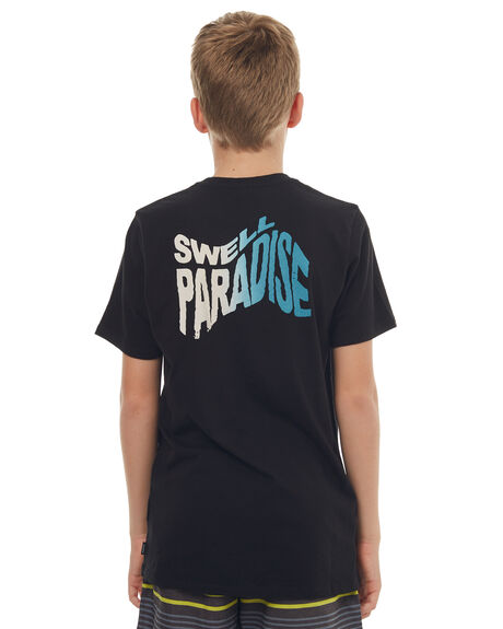 BLACK KIDS BOYS SWELL TEES - S3171003BLK