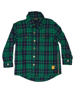 GREEN TARTAN KIDS BOYS ROCK YOUR KID TOPS - TBT1977-WCGRNTR