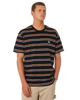 BLACK MENS CLOTHING STUSSY TEES - ST096100BLACK