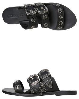 BLACK WOMENS FOOTWEAR SOL SANA FLATS - SS192S427BLK