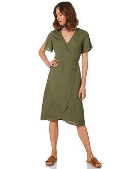 KHAKI WOMENS CLOTHING ALL ABOUT EVE DRESSES - 6423004KHAK
