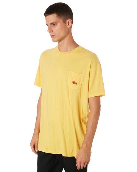 VINTAGE YELLOW MENS CLOTHING STUSSY TEES - ST082001VNYEL