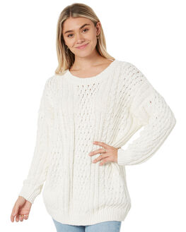 BRIGHT WHITE WOMENS CLOTHING RUSTY KNITS + CARDIGANS - CKL0383BTW