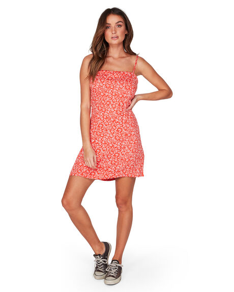 RED WOMENS CLOTHING BILLABONG DRESSES - BB-6507485-RED