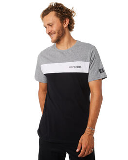 BLACK MENS CLOTHING RIP CURL TEES - CTELQ20090