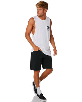 WHITE MENS CLOTHING SEA SHEPHERD SINGLETS - SSA898BWHT