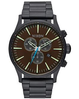 ALL BLACK BRASS MENS ACCESSORIES NIXON WATCHES - A386220ABLKB