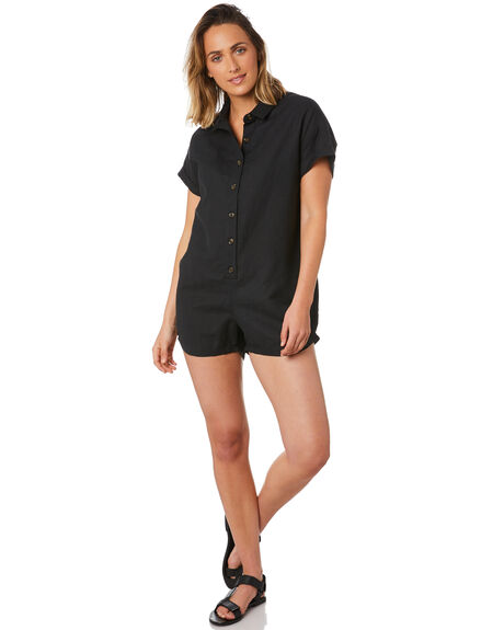 BLACK WOMENS CLOTHING SWELL PLAYSUITS + OVERALLS - S8211456BLACK