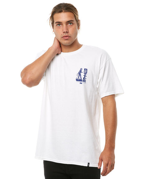 WHITE OUTLET MENS HUF TEES - TS00489WHITE