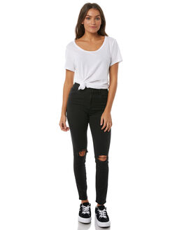BUSER BLACK WOMENS CLOTHING ABRAND JEANS - 70527-1778