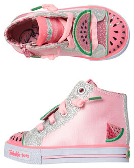 PINK SILVER KIDS TODDLER GIRLS SKECHERS FOOTWEAR - 10868NPKSL