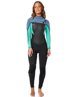BLACK SEAGLASS BLUE SURF WETSUITS O'NEILL STEAMERS - 4988AH6
