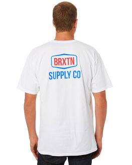 WHITE MENS CLOTHING BRIXTON TEES - 06807WHITE