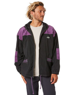 BLACK MENS CLOTHING RIP CURL JACKETS - CJKEY10090