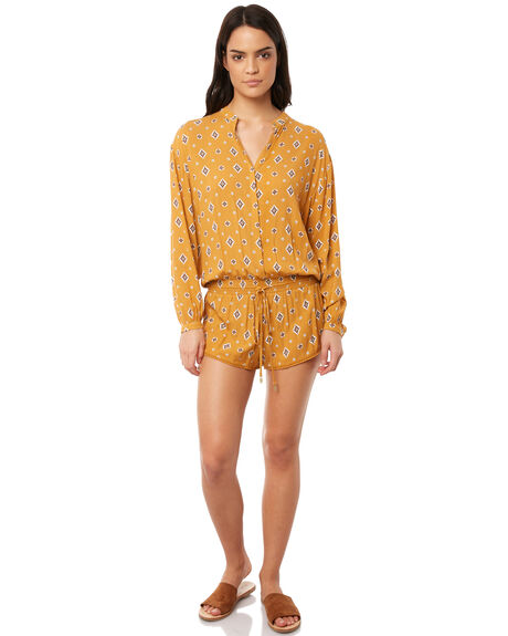 MUSTARD OUTLET WOMENS TIGERLILY PLAYSUITS + OVERALLS - T381418MUS