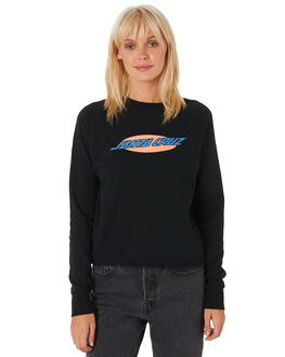 BLACK WOMENS CLOTHING SANTA CRUZ JUMPERS - SC-WFA9814BLACK