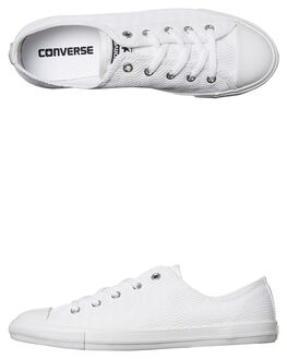 WHITE WOMENS FOOTWEAR CONVERSE SNEAKERS - 558289WHT
