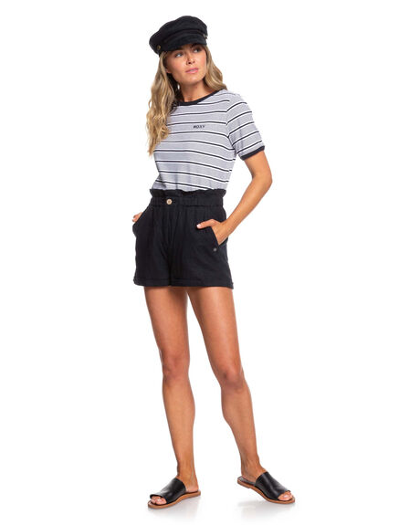 TRUE BLACK WOMENS CLOTHING ROXY SHORTS - ERJNS03236-KVJ0